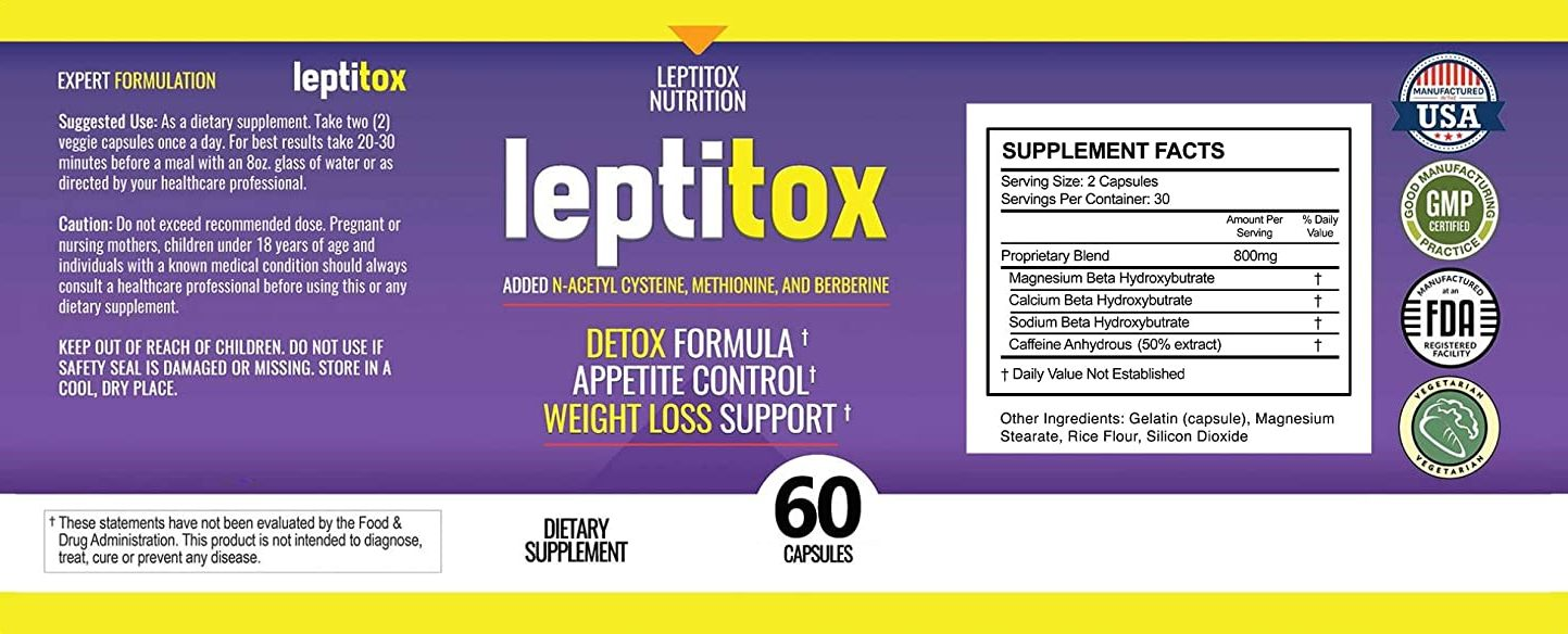 Leptitox Label