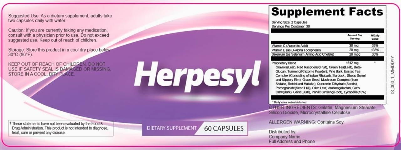 Herpesyl-Ingredients-Label