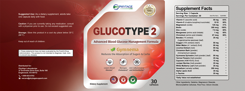 gluco type 2 ingredients label