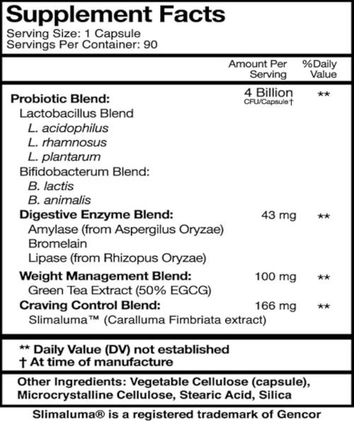 nucific bio x4 ingredients label